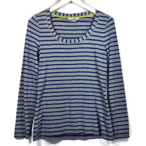 Boden blue and gray long sleeve scoop neck top